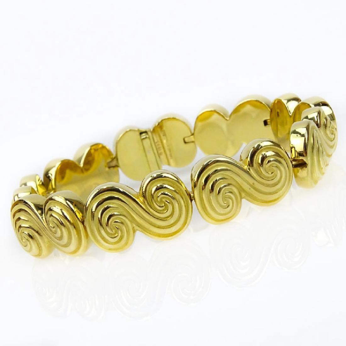 Vintage Tiffany & Co 18 Karat Yellow Gold Spiro Swirl