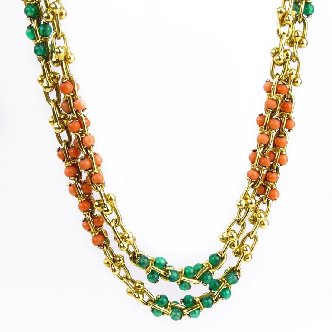 Vintage Bulgari 18 Karat Yellow Gold Link Necklace with