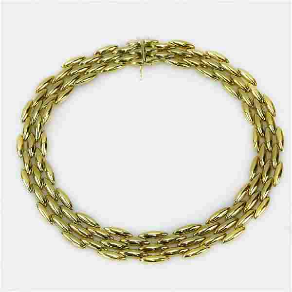 Vintage Cartier 18 Karat Yellow Gold Panther Necklace.