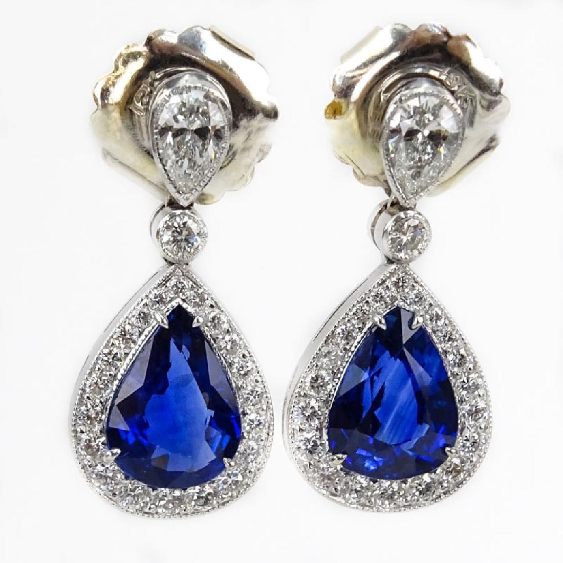 Vintage Approx. 5.40 Carat Pear Shape Sapphire, Diamond