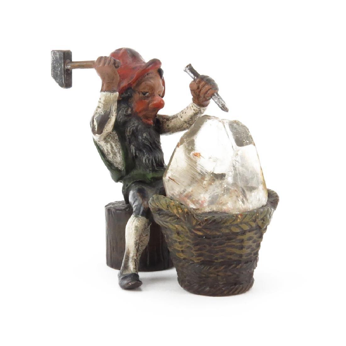 Antique Bergmann Cold Painted Vienna Bronze Gnome