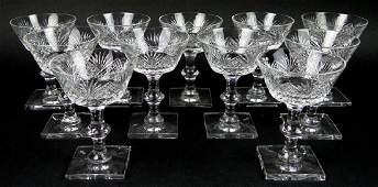 Eleven (11) Vintage Hawkes Cut Crystal Champagne
