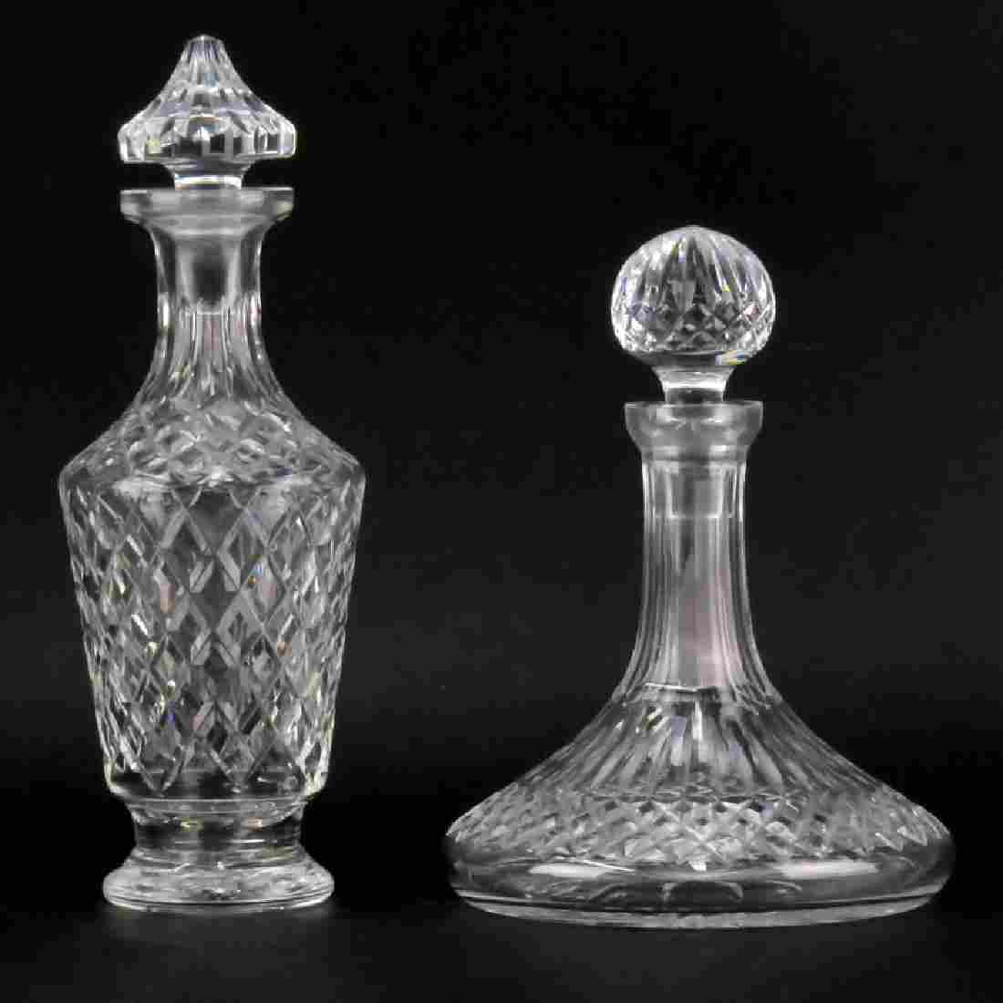 Grouping of Two (2) Waterford Cut Crystal Decanters.