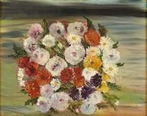 """Elizabeth Fuchs (20th C) Oil on artist board """"Floral"""