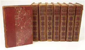 Collection of Eight (8) Hard Bound Books with Half