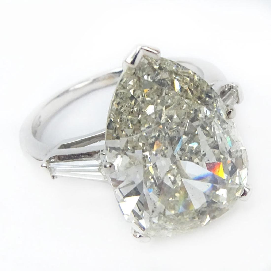 Approx. 6.32 Carat Pear Shape Diamond and Platinum