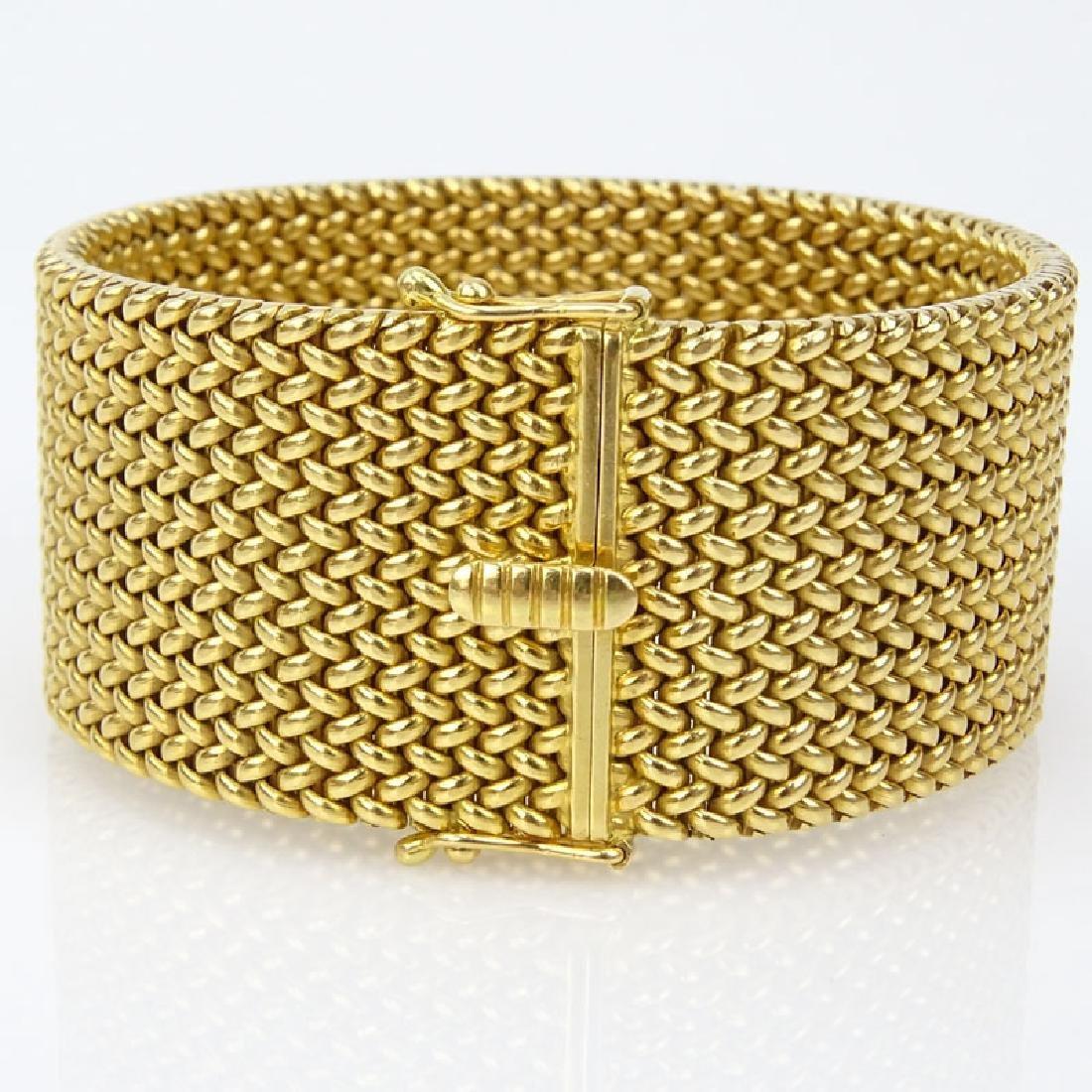 Vintage Heavy 18 Karat Yellow Gold Flexible Link - 2