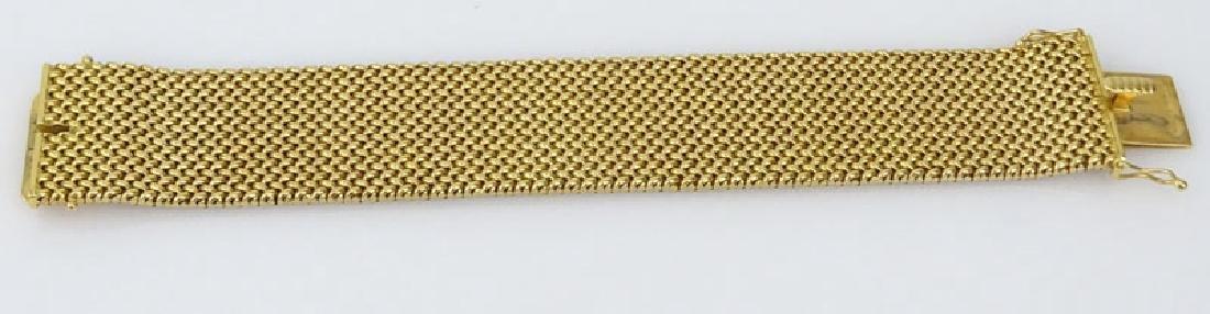Vintage Heavy 18 Karat Yellow Gold Flexible Link - 5