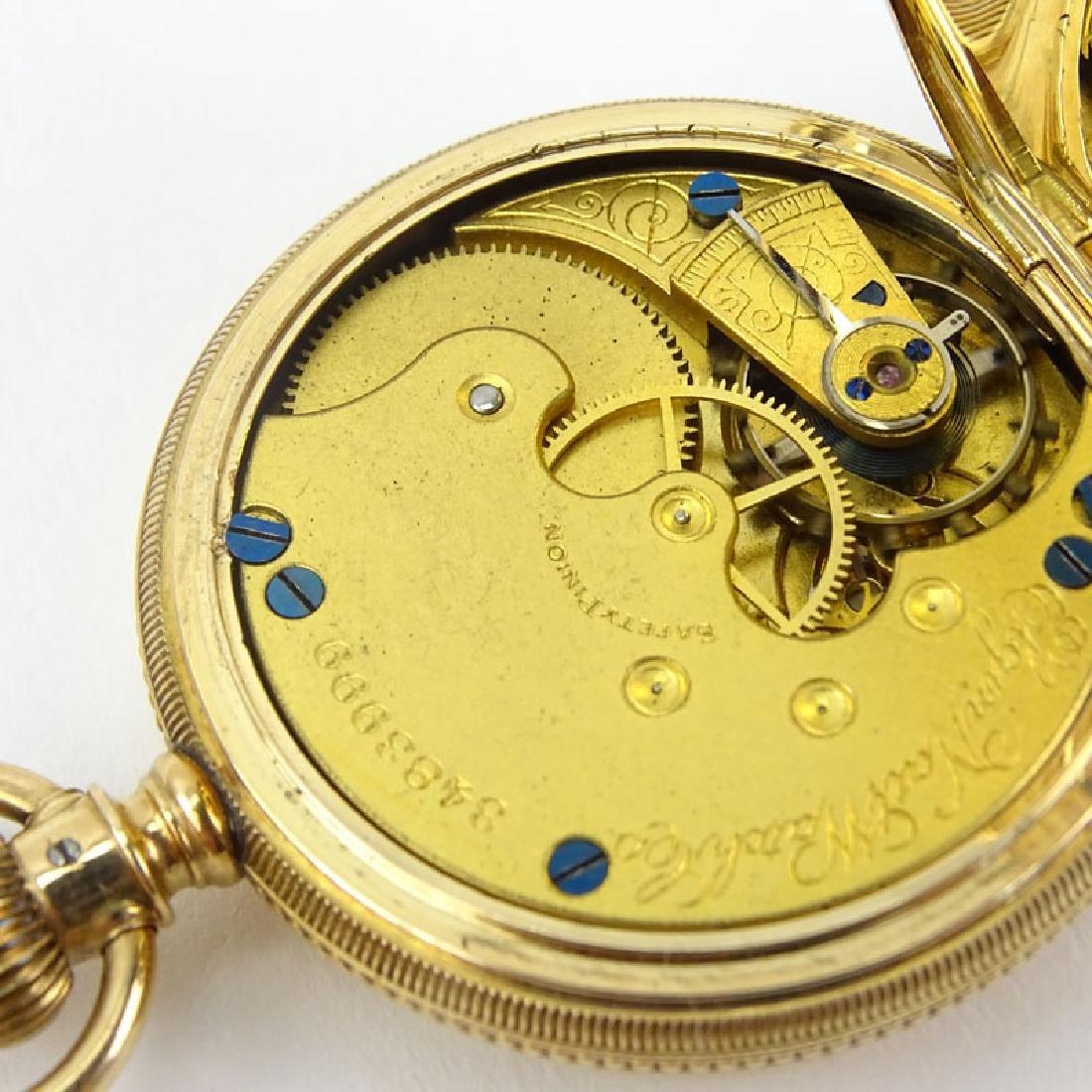 Antique Elgin 14 Karat Yellow Gold Engraved Pocket - 5