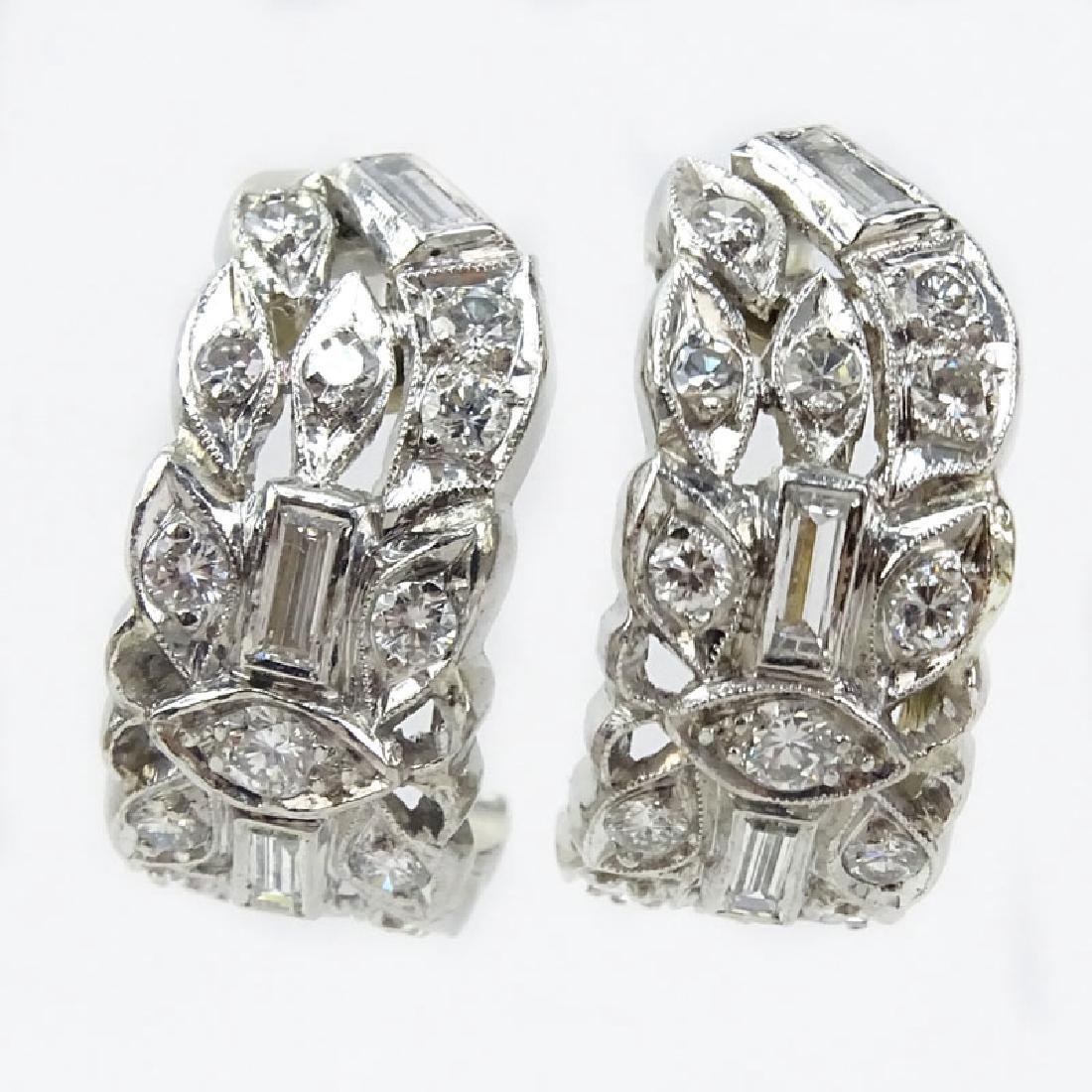 Vintage Approx. 2.25 Carat TW Diamond and Platinum