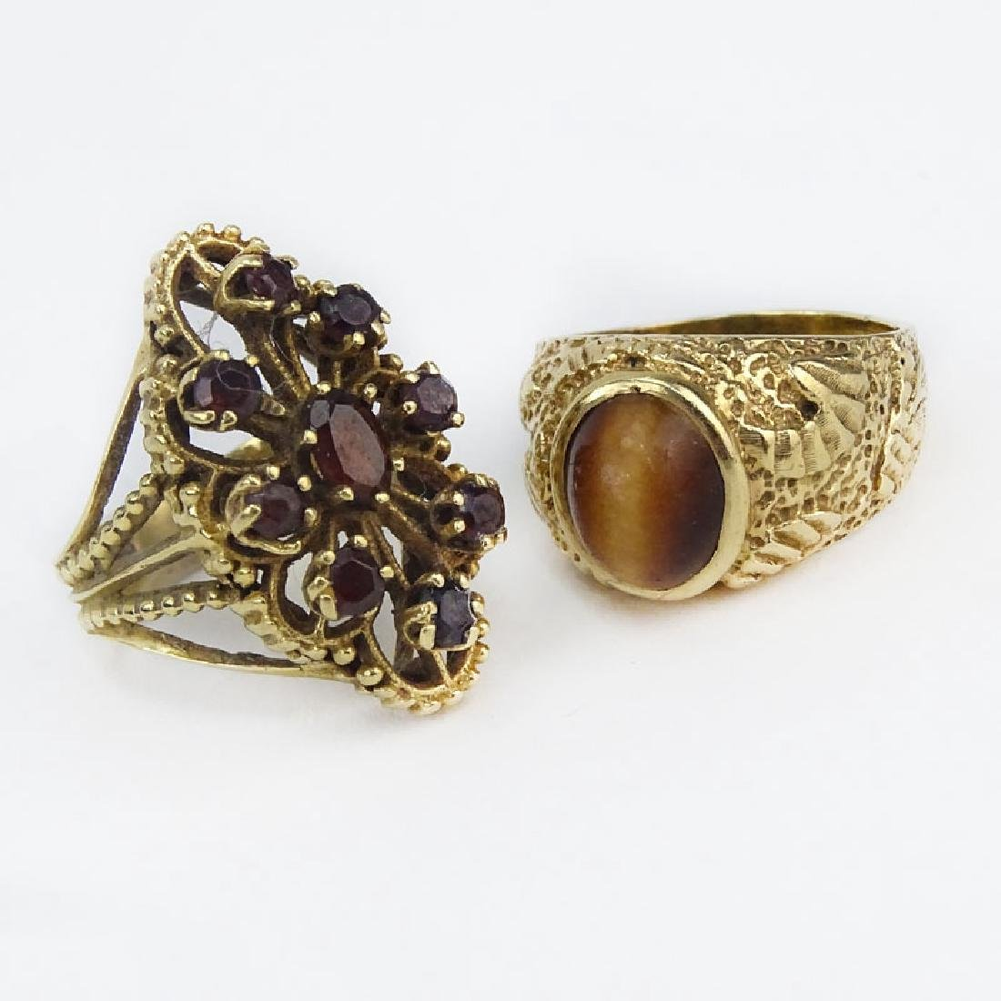 Vintage 14 Karat Yellow Gold and Cat's Eye together