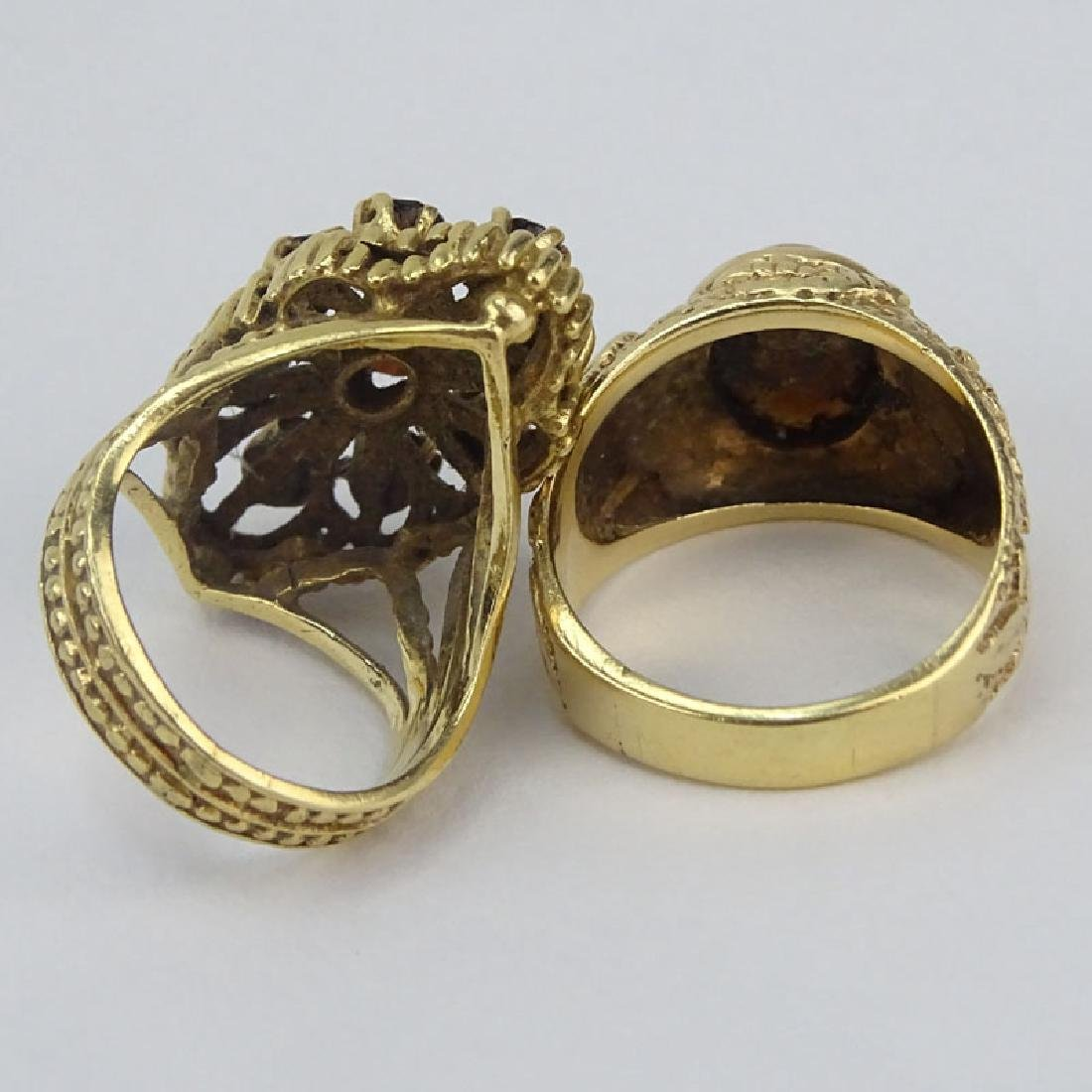 Vintage 14 Karat Yellow Gold and Cat's Eye together - 2