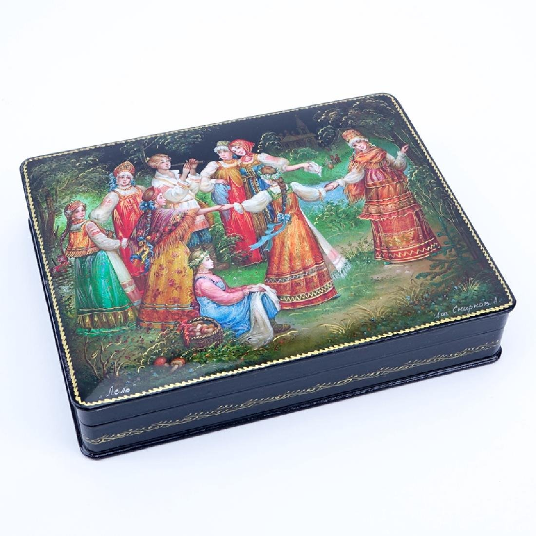 Collection of Five (5) Russian Fairy Tale Lacquered