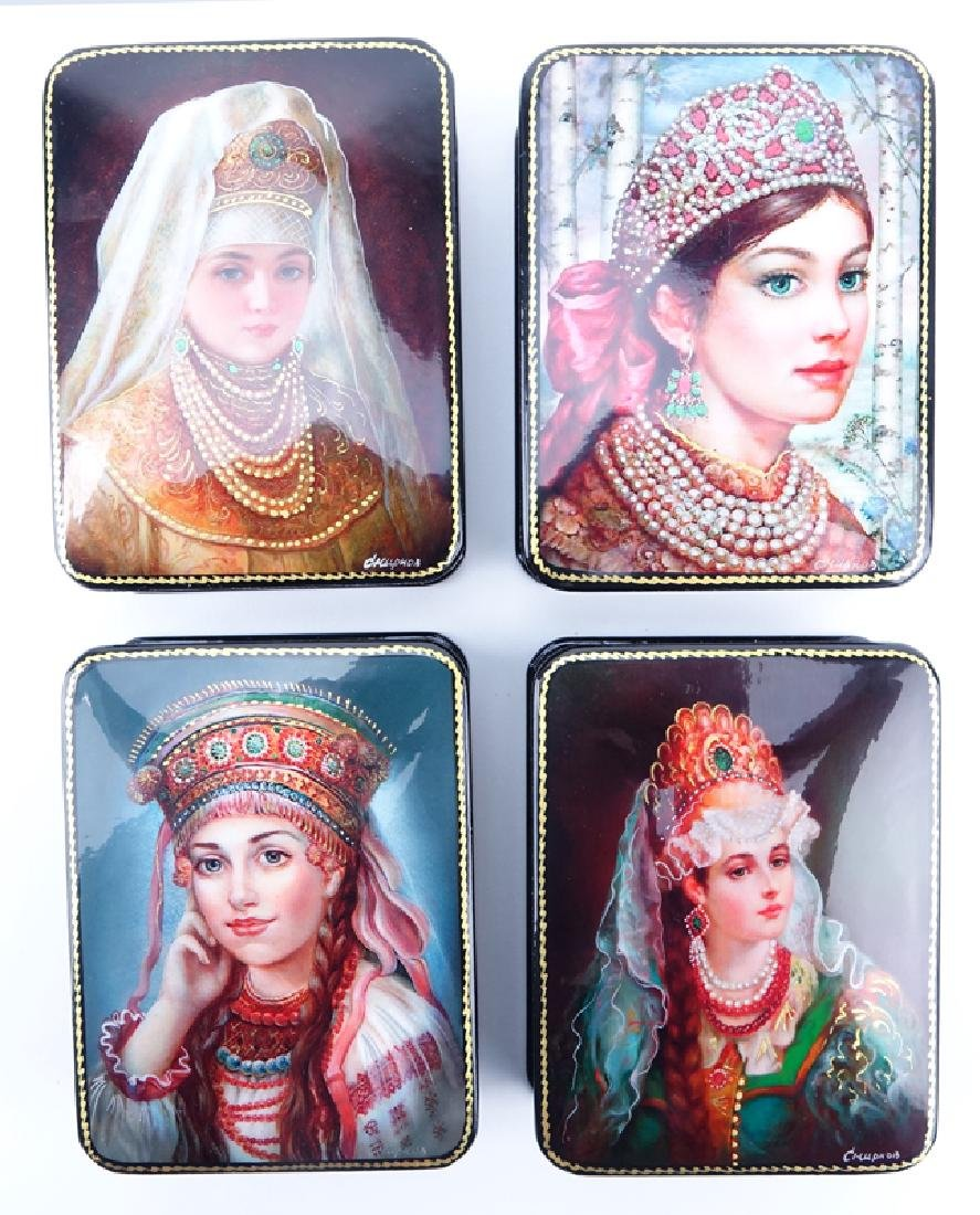 Collection of Five (5) Russian Fairy Tale Lacquered - 3