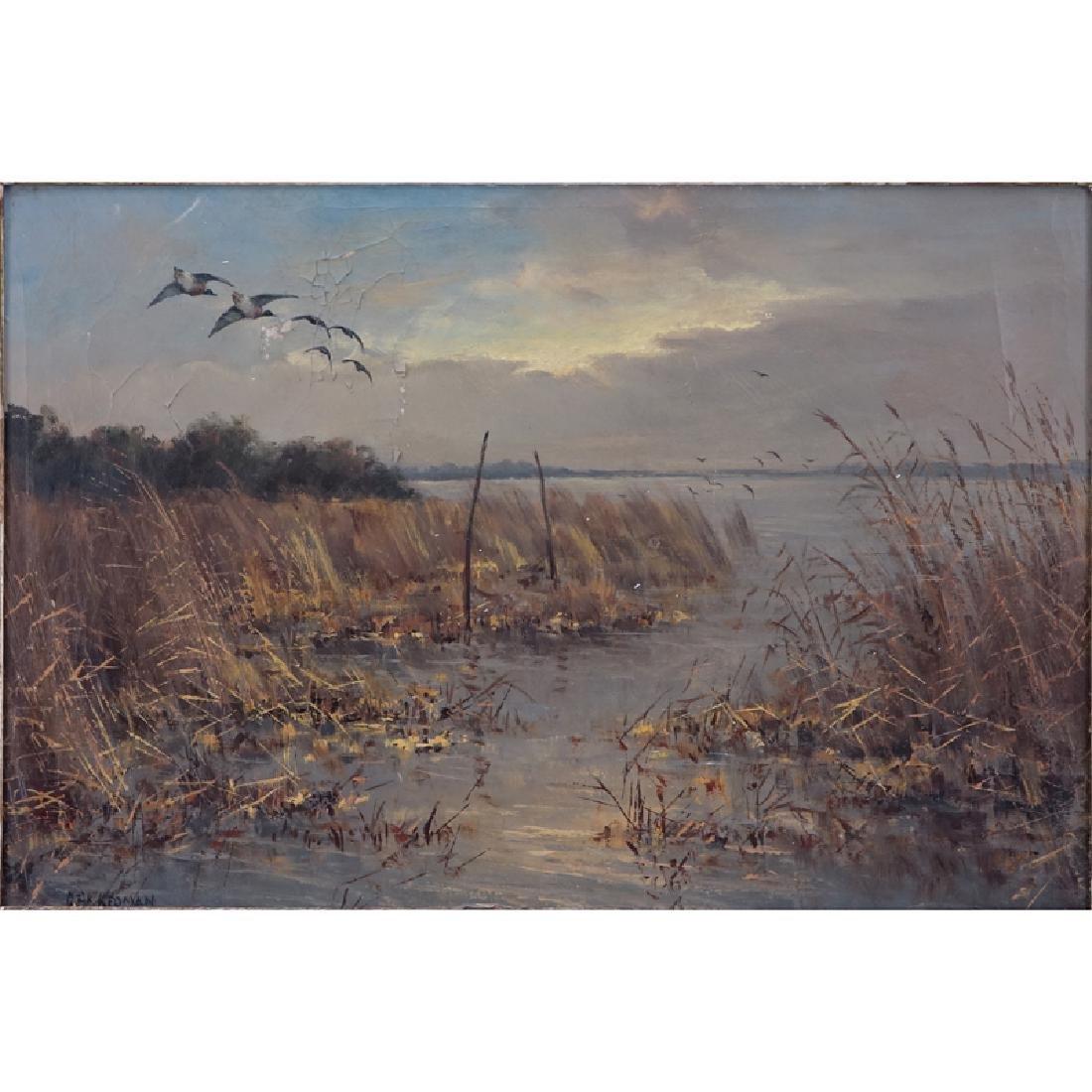 "D. Akkerman, Dutch (19/20th C) Oil on canvas ""Dutch"