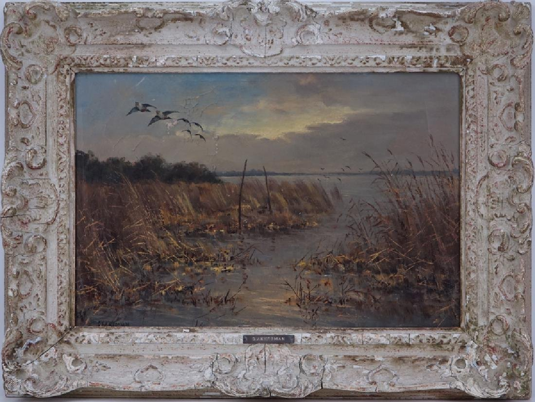 "D. Akkerman, Dutch (19/20th C) Oil on canvas ""Dutch - 2"