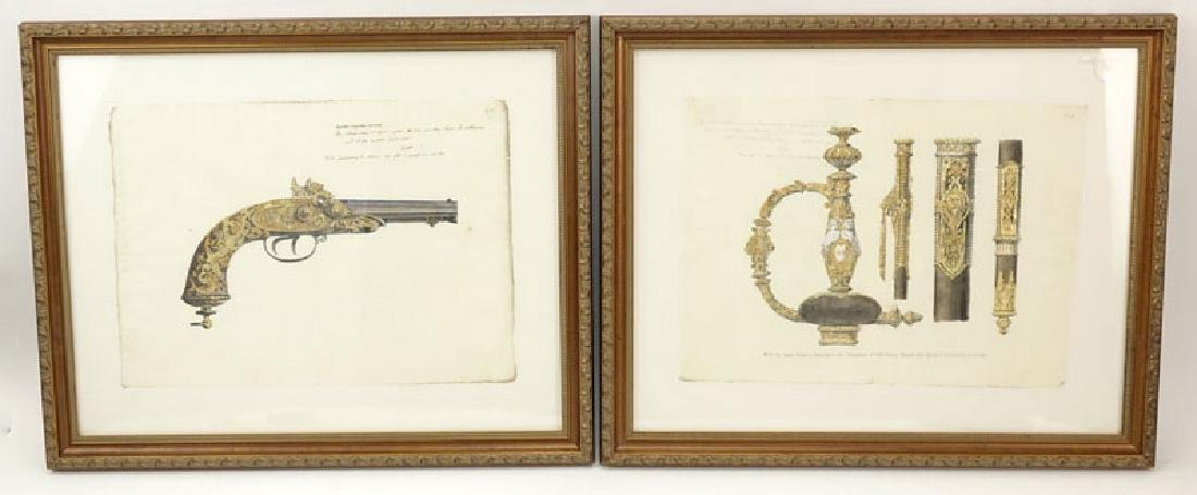 Two Engravings Of 19th Century Weapons on 18th Century - 2