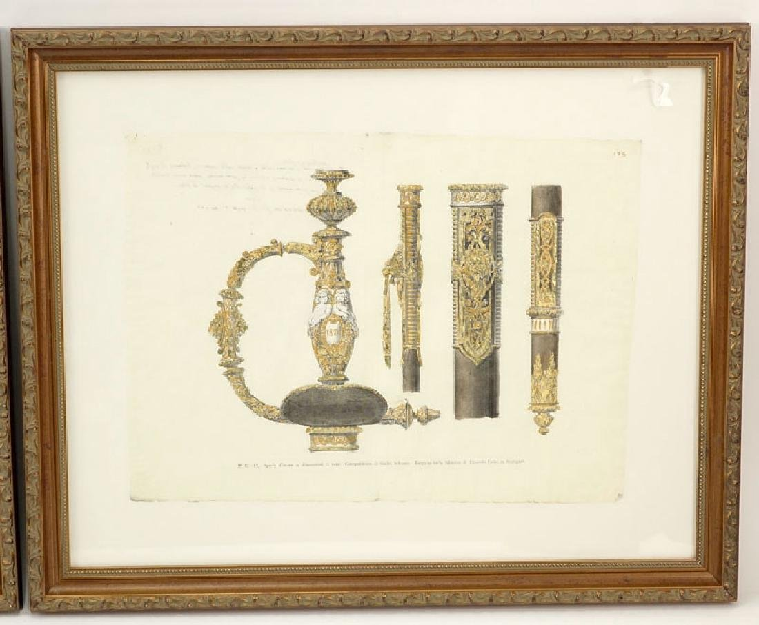 Two Engravings Of 19th Century Weapons on 18th Century - 3