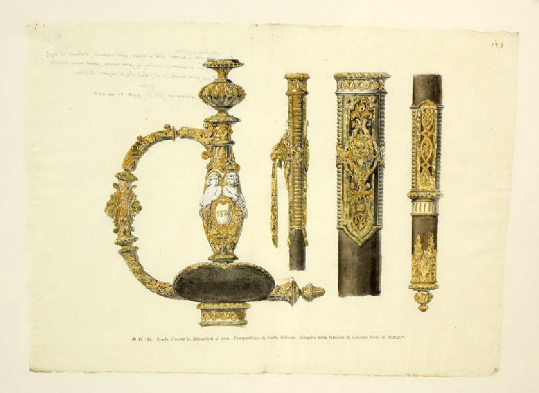 Two Engravings Of 19th Century Weapons on 18th Century - 4