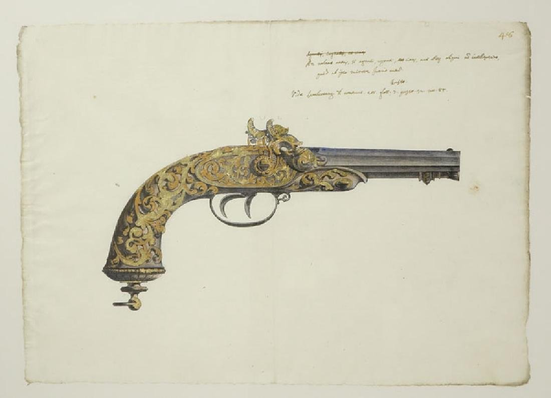 Two Engravings Of 19th Century Weapons on 18th Century - 5