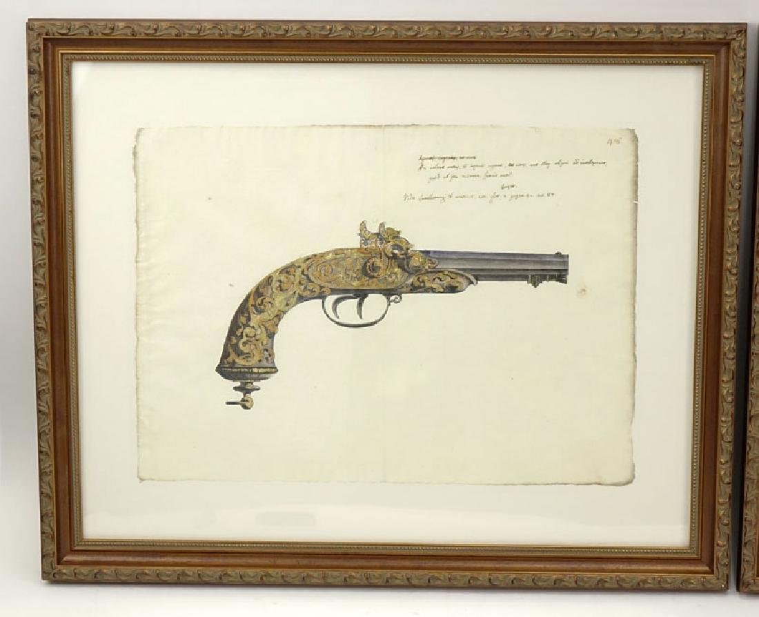 Two Engravings Of 19th Century Weapons on 18th Century - 6