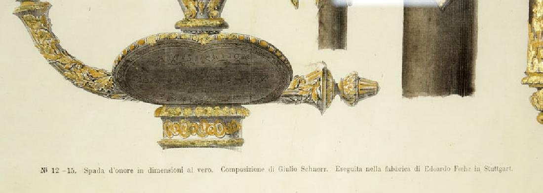 Two Engravings Of 19th Century Weapons on 18th Century - 7