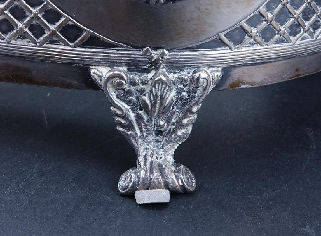 Antique Sterling Silver and Crystal Centerpiece Bowl. - 4
