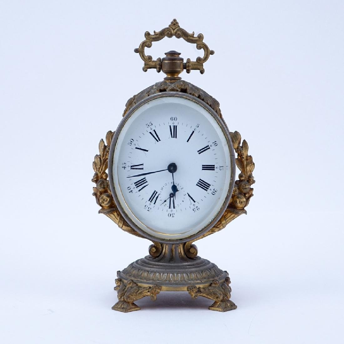 Antique French Bronze Mounted Gilt Metal Clock.