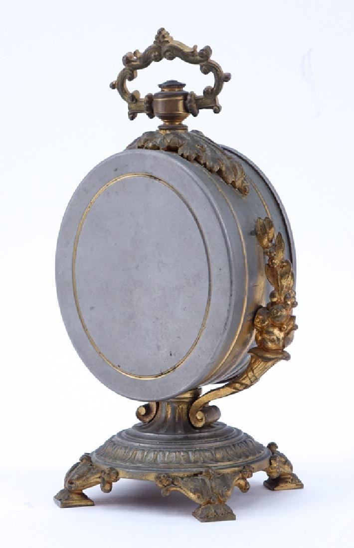 Antique French Bronze Mounted Gilt Metal Clock. - 2