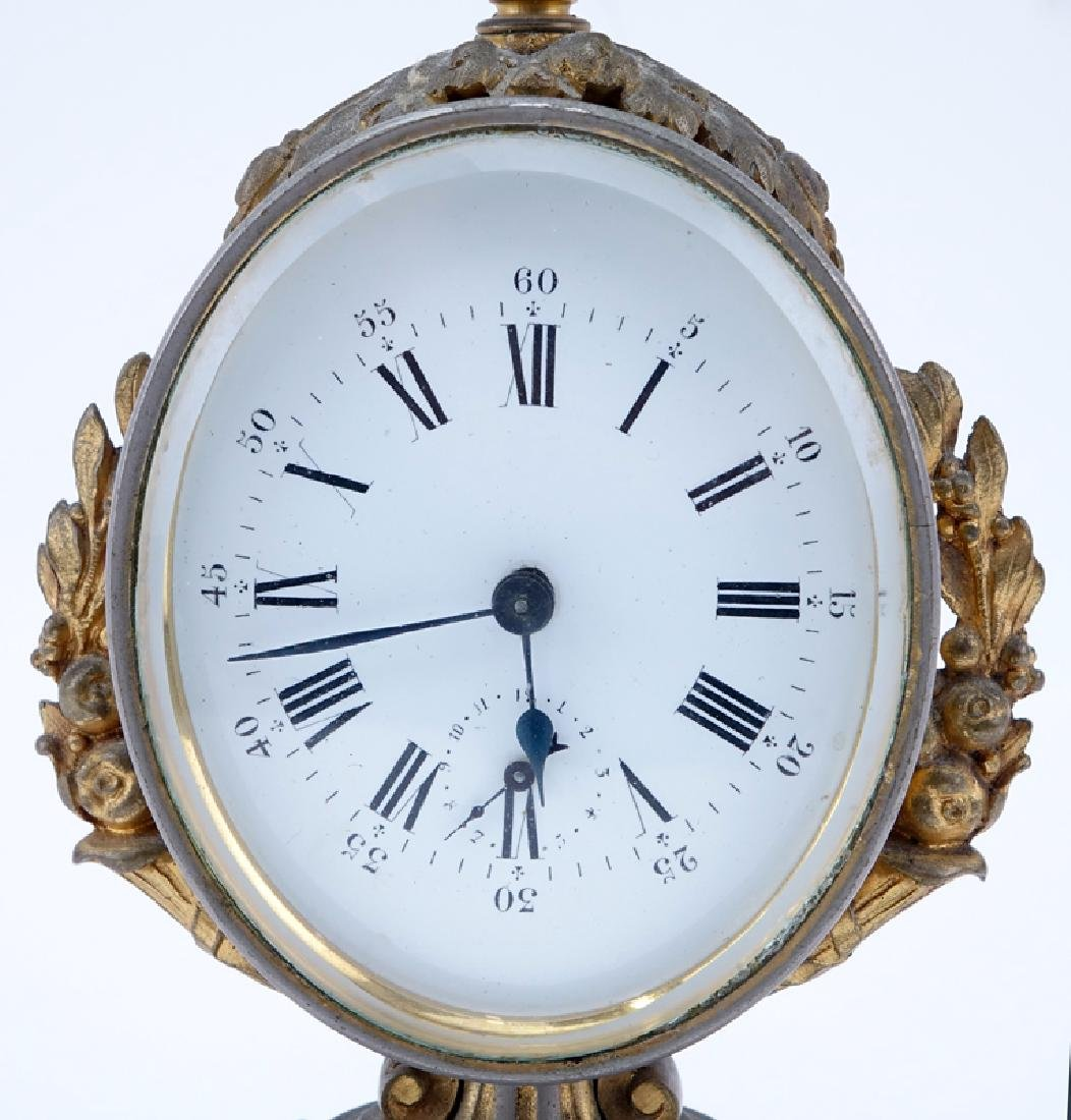 Antique French Bronze Mounted Gilt Metal Clock. - 3