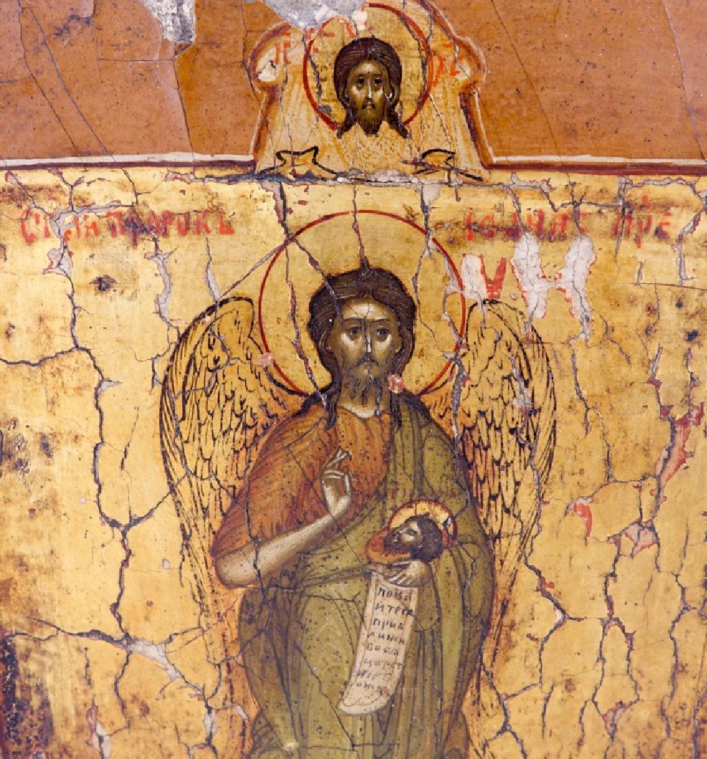 19/20th Century Russian Icon of Saint John the Baptist, - 2