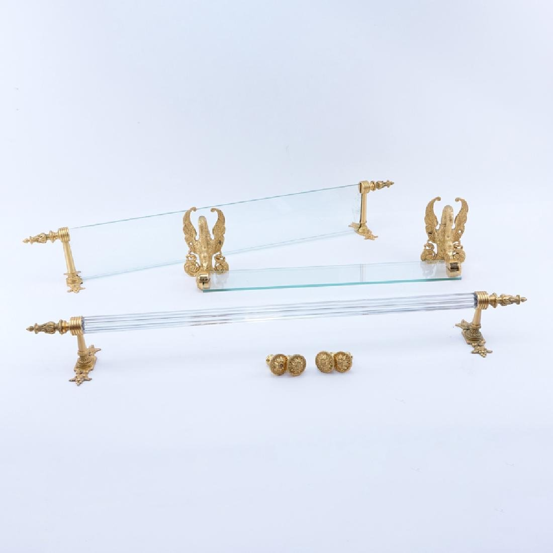 Group Lot of Sherle Wagner Gold Plated Bathroom