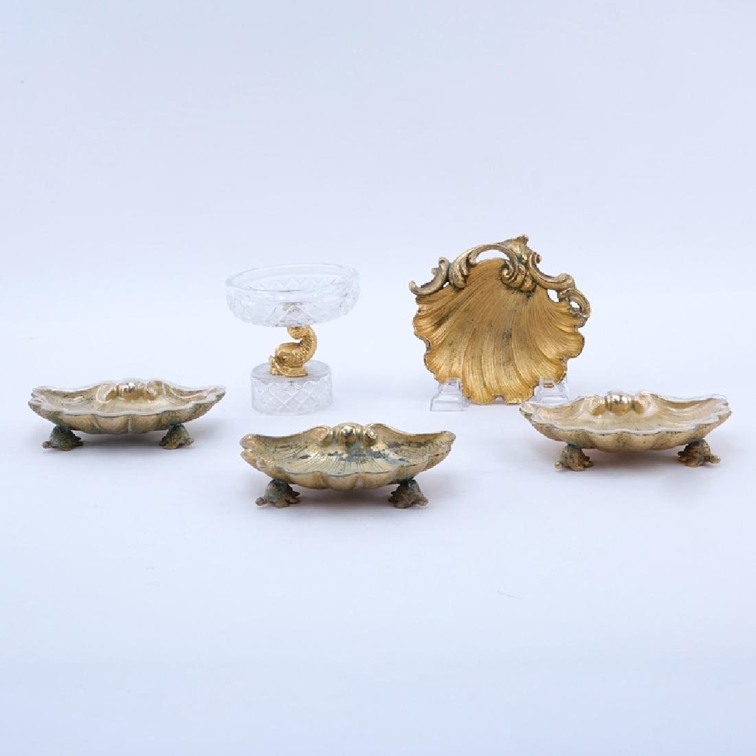 Group of Five (5) Sherle Wagner Gold Plated Bathroom