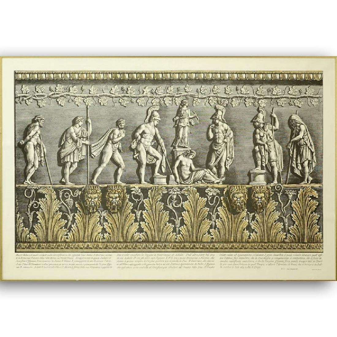 Ornamental Frieze Engraving After Francesco Piranesi,