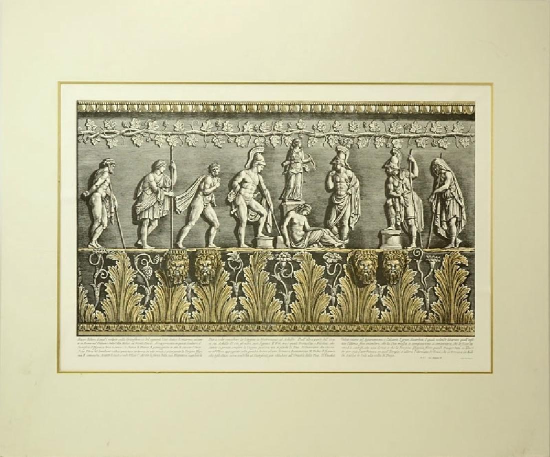 Ornamental Frieze Engraving After Francesco Piranesi, - 2