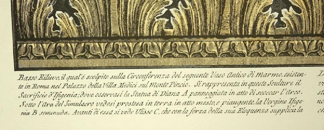 Ornamental Frieze Engraving After Francesco Piranesi, - 3