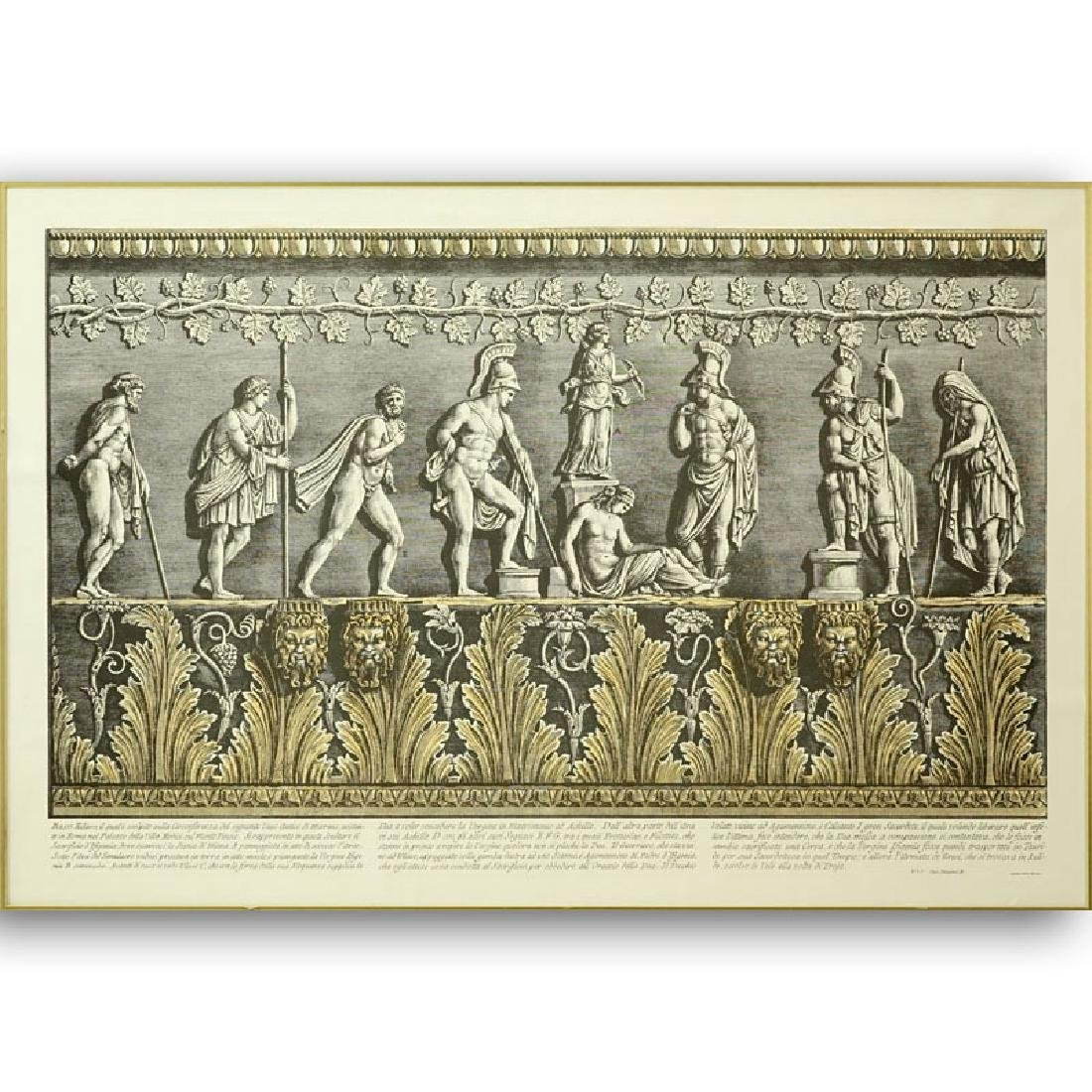 Ornamental Frieze Engraving After Francesco Piranesi,