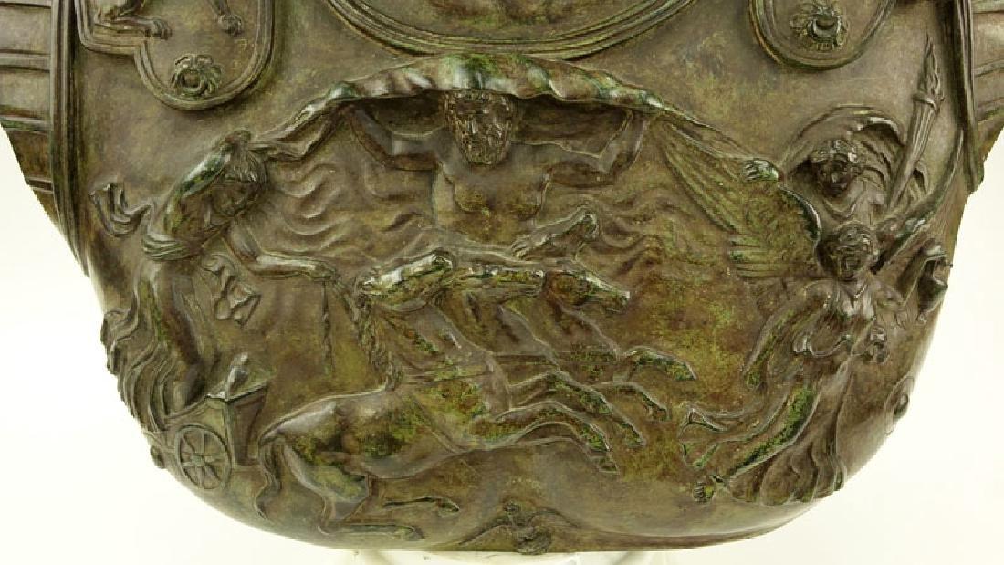 Large Modern Bronze Bust of Augustus Caesar On White - 7