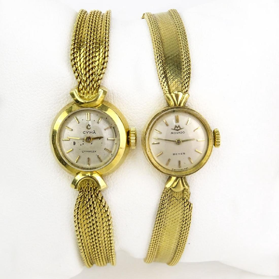 Lady's Vintage 18 Karat Yellow Gold Movado Bracelet