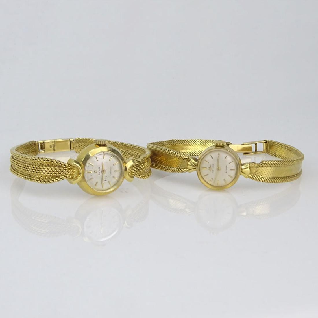 Lady's Vintage 18 Karat Yellow Gold Movado Bracelet - 2