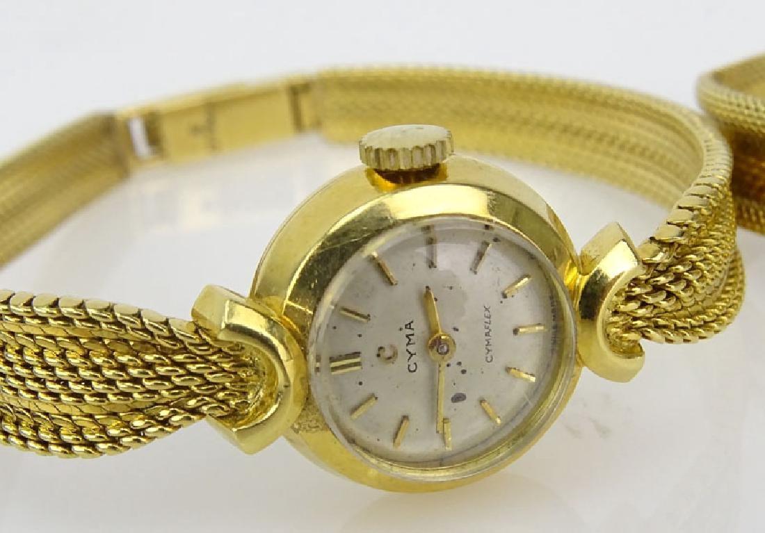 Lady's Vintage 18 Karat Yellow Gold Movado Bracelet - 3