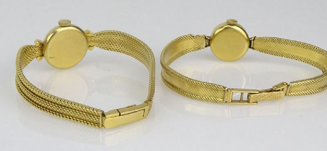Lady's Vintage 18 Karat Yellow Gold Movado Bracelet - 5