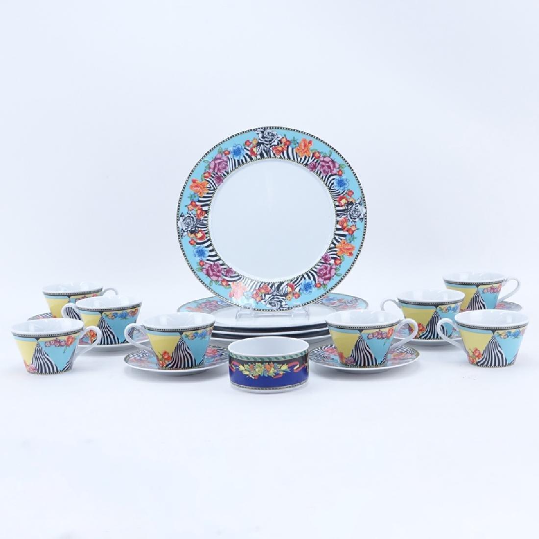 Nineteen (19) Pc Rosenthal Versace Porcelain
