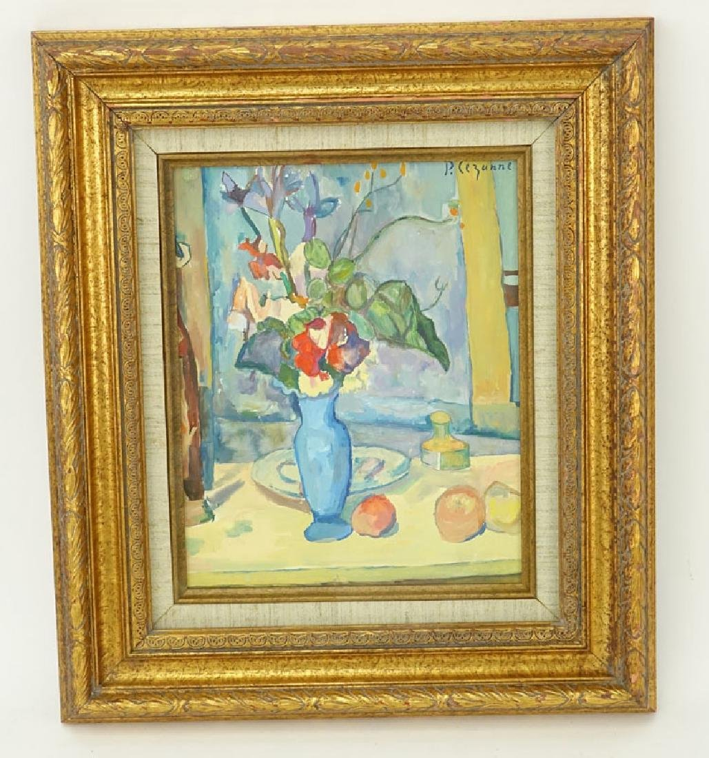 Signed P. Cezanne Gouache on paper, Still Life with - 2