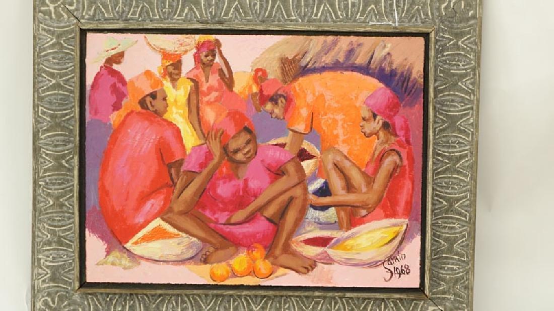 Petion Savin, Haitian (born 1927) Acrylic on board - 3