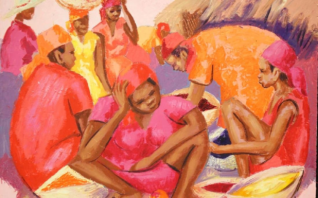 Petion Savin, Haitian (born 1927) Acrylic on board - 4