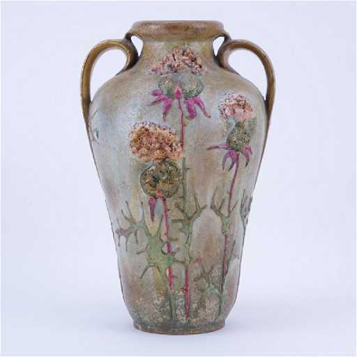 Antique Teplitz Amphora Art Nouveau Pottery Vase Marks
