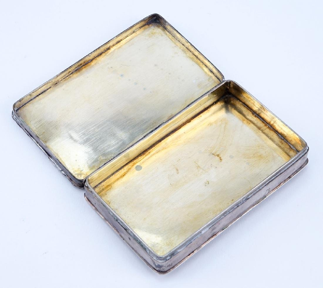 19th Century German Silver Chased Snuff Box. Stamped - 2
