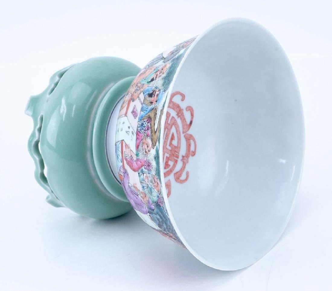 Republic Period Chinese Porcelain Bowl On Stand. - 2