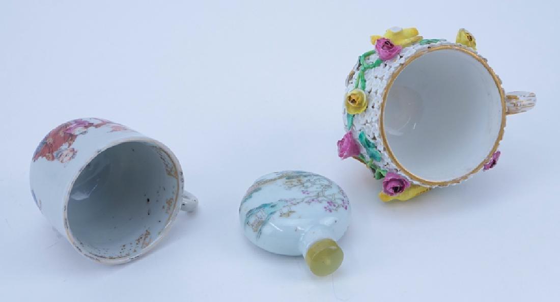 Three Piece Porcelain Lot. Includes: Meissen cup, - 2
